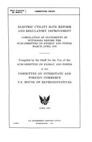 Electric Utility Rate Reform and Regulatory Improvement PDF