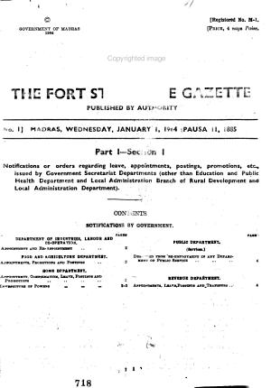 Fort Saint George Gazette PDF