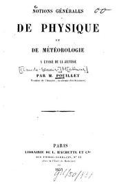 Notions générales de physique et de météorologie à l'usage de la jeunesse