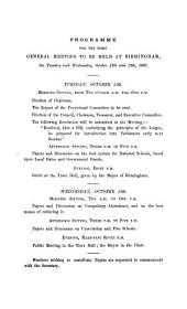 Report of the First General Meeting of Members of the National Education League: Held at Birmingham, on Tuesday and Wednesday, Oct. 12 & 13, 1869 ...