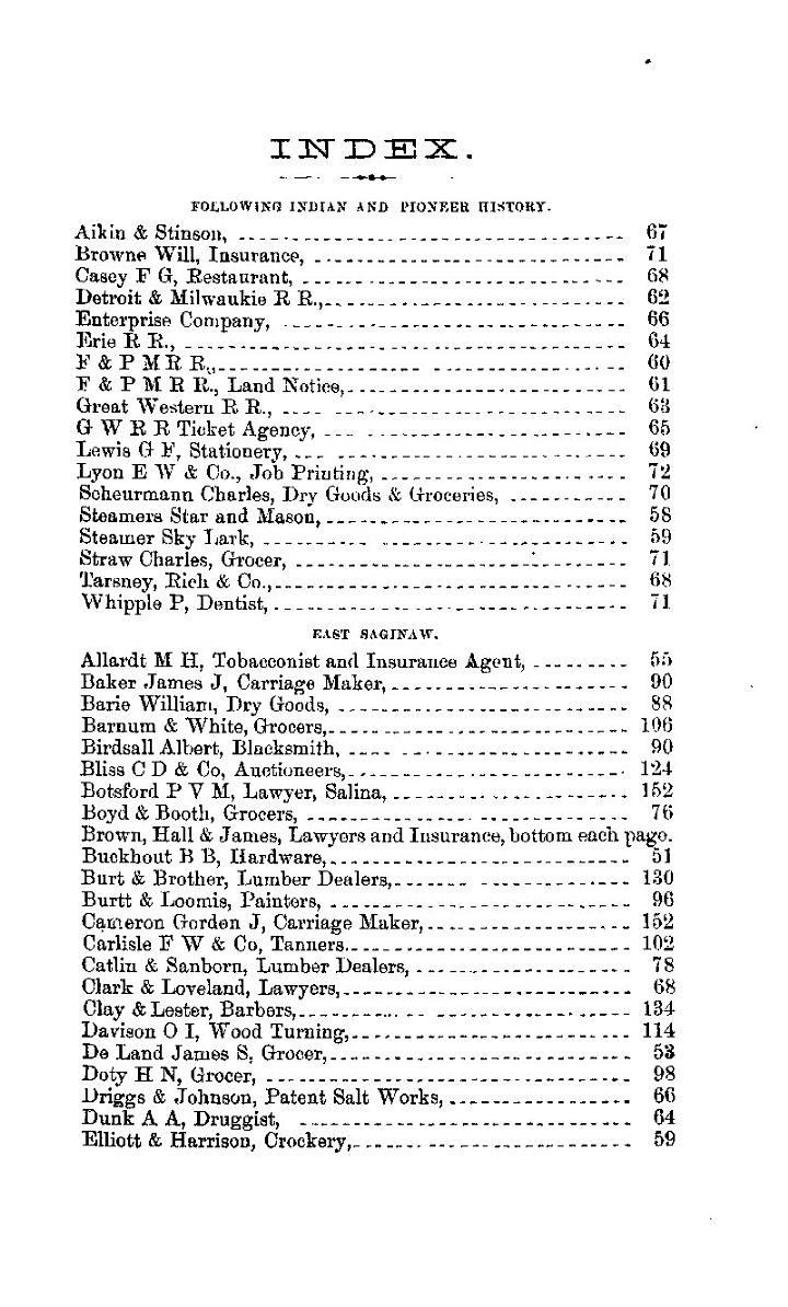 PIONEER DIRECTORY OF THE SAGINAW VALLEY FOR 1866 AND 1867