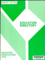 Education Directory PDF