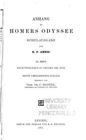 Anhang zu Homers Odyssee, schulausgabe: hft. Erläuterungen zu gesang XIII-XVIII. 3. umgearb. aufl. 1895