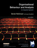 Value Pack  Organisational Behaviour and Analysis  Including Pin Card  PDF
