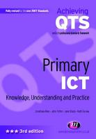 Primary ICT  Knowledge  Understanding and Practice PDF
