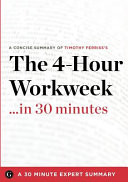 The 4 Hour Workweek In 30 Minutes Book PDF