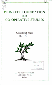 Occasional Paper   Plunkett Foundation for Co operative Studies PDF