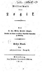 Wissenschaft der Logik: Band 1
