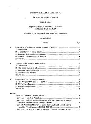 Islamic Republic of Iran  Selected Issues PDF