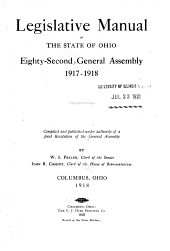 Manual of Legislative Practice in the ... General Assembly ...