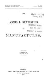 Annual Report on the Statistics of Manufactures: Volume 5