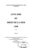 Annuaire du droit de la mer PDF
