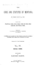 The Codes and Statutes of Montana: In Force July 1st, 1895, Volume 4