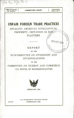 Unfair Foreign Trade Practices