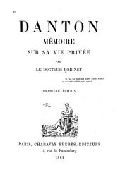 Danton: mémoire sur sa vie privée