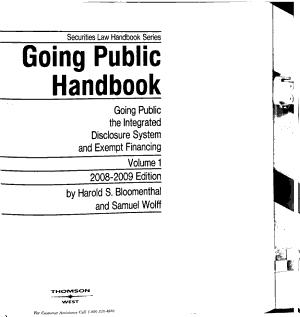 Going Public Handbook
