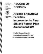 Coconino National Forest (N.F.), Arizona Snowbowl Facilities Improvements: Environmental Impact Statement