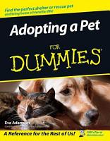 Adopting a Pet For Dummies PDF