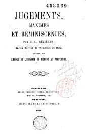 Jugements, maximes et réminiscences
