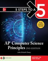 5 Steps to a 5  AP Computer Science Principles  2nd Edition PDF