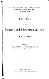Yearbook to the Index of the USDA.