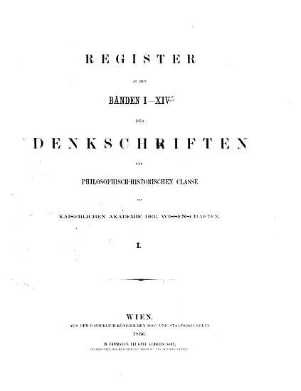 Denkschriften PDF