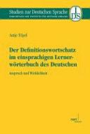 Der Definitionswortschatz im einsprachigen Lernerw  rterbuch des Deutschen PDF