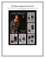 The Body Languange Project  Dating  Attraction and Sexual Body Language PDF
