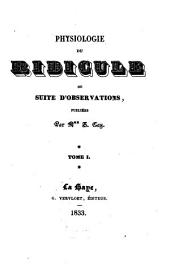 Physiologie du ridicule, ou, Suite d'observations