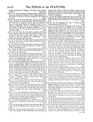 The Statutes of the United Kingdom of Great Britain and Ireland
