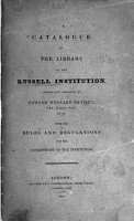 A Catalogue of the Library of the Russell Institution PDF