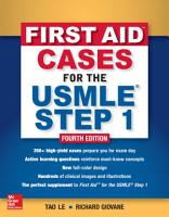 First Aid Cases for the USMLE Step 1  Fourth Edition PDF
