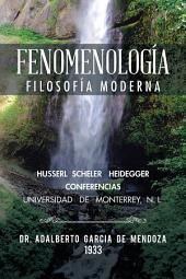 Fenomenología: Filosofía moderna