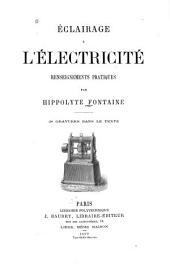 Éclairage à l'électricité renseignements pratiques