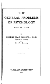The General Problems of Psychology: Conceptions ...