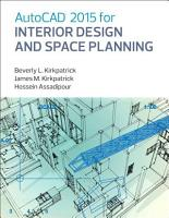 AutoCAD 2015 for Interior Design and Space Planning PDF