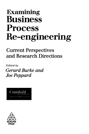 Examining Business Process Re-engineering