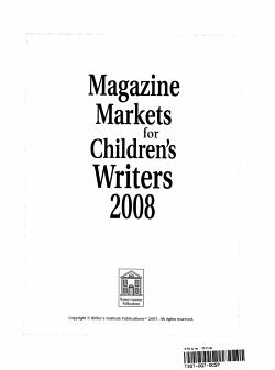 Magazine Markets for Children s Writers 2008 PDF
