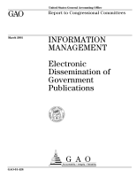 Information management   electronic dissemination of government publications   report to congressional committees PDF