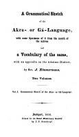 A grammatical sketch of the Akra  or G   language PDF