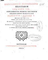 Disputationum anatomicarum selectarum: volumen VII, Supplementum priorum voluminum