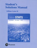 Intro Stats Student Solutions Manual