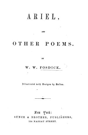 Ariel  and other poems     Illustrated with designs by Dallas