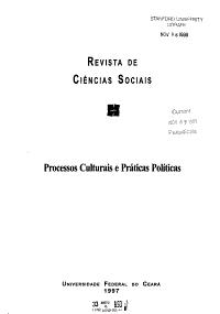 Revista de ci  ncias sociais PDF