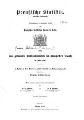 Preussische statistik: (Amtliches quellenwerk) ..., Band 101