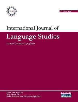 International Journal of Language Studies  IJLS      volume 7 3