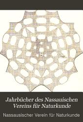 Jahrbücher des Nassauischen Vereins für Naturkunde: Bände 61-63