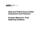 State and federal source water assessment and protection program measuresfinal reporting guidance  PDF