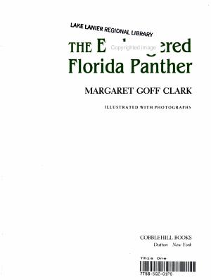 The Endangered Florida Panther PDF