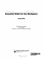 Essential Skills for the Workplace